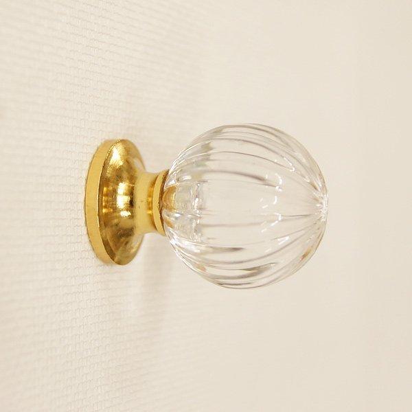 真鍮製 アクリル取っ手 (つまみ) ゴールド (φ28mm)**
