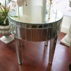 【ミラー家具】Mirrored Furniture ラウンドコンソール φ70×H45cm