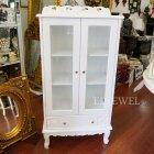【Violetta】キュートな姫家具♪ガラスキャビネット・ホワイト