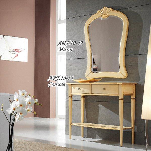 イタリア高級輸入家具 【TOSATO−トザート】 FAVORITIシリーズ コンソールテーブル、ミラー