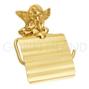 トイレットペーパーホルダー「エンジェル」(ゴールド・真鍮製)