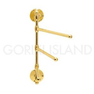 【即納可!】スイングタオルバー (ゴールド・真鍮製):W300mm