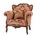 【Salon collection】イタリア製ロココ調家具〜金華山織り1Pソファー