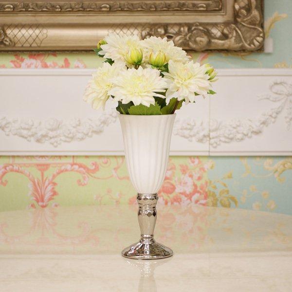 【フラワーベース】花器 (ホワイト) Sサイズ φ12×H29cm