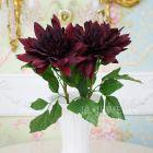 <B>【即納可!】</B>【Art silk flower】ダリア・ダークレッド (1本)(φ 約24cm)<img class='new_mark_img2' src='https://img.shop-pro.jp/img/new/icons24.gif' style='border:none;display:inline;margin:0px;padding:0px;width:auto;' />