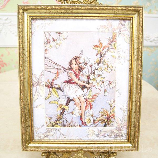 【即納可!】シシリー.M.バーカー「Flower Fairies」額絵「ワイルドチェリー」W29×H35cm