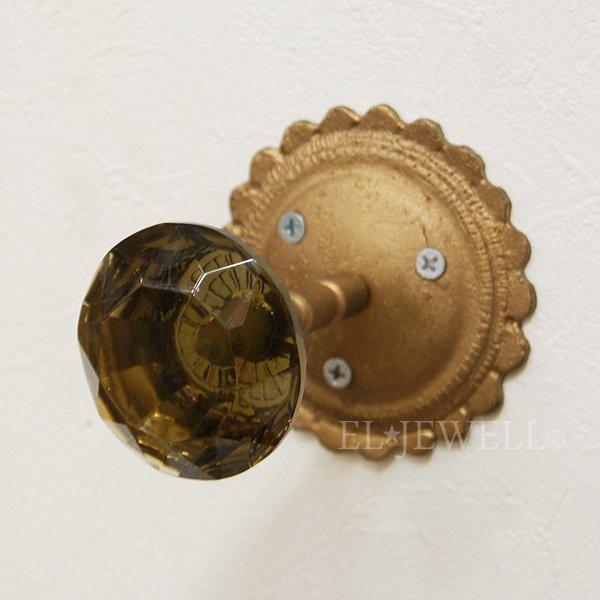 【即納可!】 ガラス製ウォールフック・チャコール (W6.4cm)
