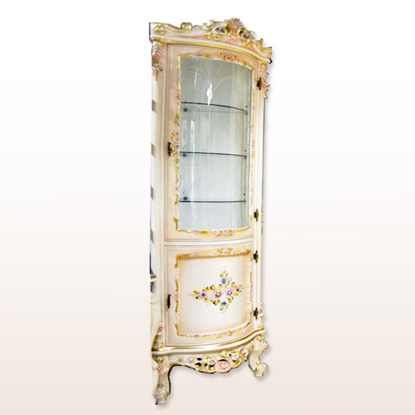 ロココ調プリンセス家具「カトリーヌ」コーナーキャビネット(W55×D55×H190cm)