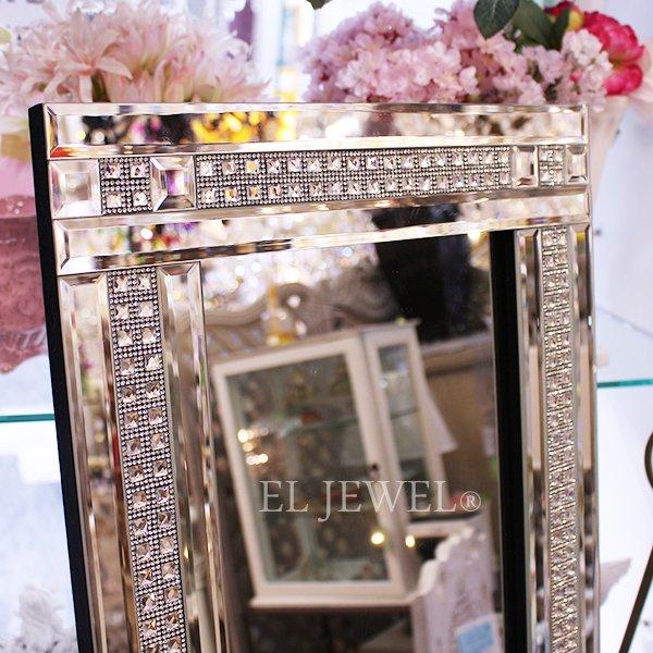 キラキラ☆クリスタル・スタンドミラー(W38×H150cm)2Line