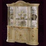 <B>【CAMEL】<LEONARD-レオナルド></B>イタリア製 4ドア・ガラスキャビネット(ライト付き)(W179×H222cm)