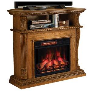 <b>【LLOYD GRANDE】</b>高級木製マントルピース暖炉本体セット「コリンス」(23inc) プレミアムオーク(W1066×D393×H1016mm)