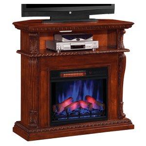 <b>【LLOYD GRANDE】</b>高級木製マントルピース暖炉本体セット「コリンス」(23inc) ビンテージチェリー(W1066×D393×H1016mm)