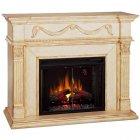 <b>【LLOYD GRANDE】</b>高級木製マントルピース暖炉本体セット「ゴッサマー」(28inc)ATアイボリー(W1397×D457×H1092mm)