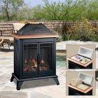 <b>【Dimplex】</b>アウトドア用電気式暖炉セット「デッキコンパニオン」ブラック(W676×D409×H963mm)