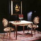 イタリア製 高級輸入家具<b>【BROGIATO】</b>LOUIS XV シリーズ アームチェア(W59×D59×H99cm)