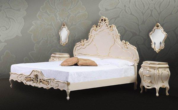イタリア製 高級輸入家具 【BROGIATO】 CA`LEZZONICO シリーズ ベッド(W200×D212×H168cm)