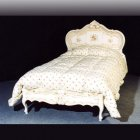 イタリア製 高級輸入家具<b>【BROGIATO】</b>ANASTASYA シリーズ ベッド(W117×D208×H127cm)