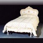 イタリア製 高級輸入家具<b>【BROGIATO】</b>ANASTASYA シリーズ ベッド(W137×D208×H127cm)