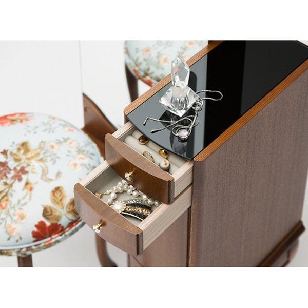 国産・高級ロココ家具【カンティーニュ】ドレッサー「クインシー」(W580×D395×H1740(720)mm)