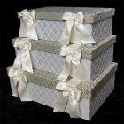 <b>【Jennifer Taylor】</b>カルトナージュ♪リボン付き 3BOX「Swanson」