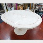 <b>【LEONARD】</b><レオナルド>【CAMEL】イタリア製 ダイニングテーブル W110〜148×D110×H73cm