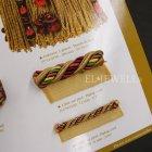 <b>【フランスHOULES社製】</b>「ANTICA」シリーズ フリンジ&トリム H12mm (25m巻)