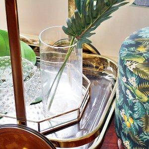 【即納可!】【フラワーベース】ガラス製 花器(φ12.5×H25.5cm)