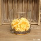 <B>【入荷未定】</B>【フラワーベース】ガラス製 花器(φ15×H15cm)
