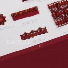 <b>【フランスHOULES社製】</b>「VENDOME」シリーズ フリンジ&トリム H18mm (50m巻)