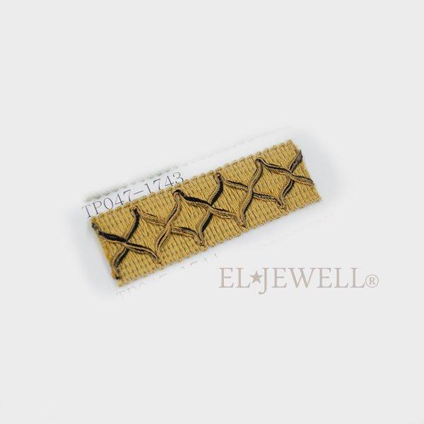 カーテン装飾材 フリンジ&トリム「ブレイド」イエロー系 H25mm