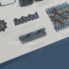 <b>【フランスHOULES社製】</b>「VENDOME」シリーズ フリンジ&トリム H8mm (50m巻)