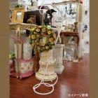 <b>【即納可!】</B>アンティーク調ハンギングスタンドS ホワイト(W34×D25×H100cm)