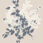 輸入壁紙<b>【デンマーク・Fiona】</b>リーフモチーフ ベージュ系 53cm巾×10.05m巻