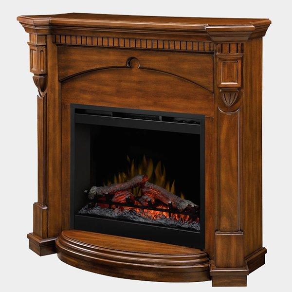 【Dimplex】 <シンフォニー>高級電気式暖炉セット「デントン」(26inch)ウォールナット(W1210xD464xH1118mm)