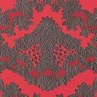 輸入壁紙<b>【フランス・Christian Lacroix】</b>macarena レッド系 52cm巾×10.05m巻