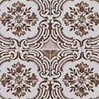 輸入壁紙<b>【フランス・Christian Lacroix】</b>Azulejos ブラウン系 52cm巾×10.05m巻