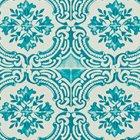 輸入壁紙<b>【フランス・Christian Lacroix】</b>Azulejos ブルー系 52cm巾×10.05m巻