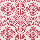 輸入壁紙<b>【フランス・Christian Lacroix】</b>Azulejos ピンク系 52cm巾×10.05m巻