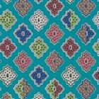 輸入壁紙<b>【フランス・Christian Lacroix】</b>Alcazar ブルー系 52cm巾×10.05m巻