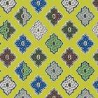 輸入壁紙<b>【フランス・Christian Lacroix】</b>Alcazar イエロー系 52cm巾×10.05m巻