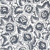 輸入壁紙 【イギリス・DESIGNERS GUILD】 rosario ブラック系 52cm巾×10.05m巻
