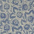 輸入壁紙<b>【イギリス・DESIGNERS GUILD】</b>rosario ブルー系 52cm巾×10.05m巻