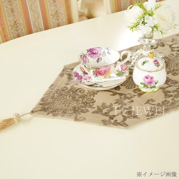 ロココ調 テーブルランナ- ベージュ 31×192cm