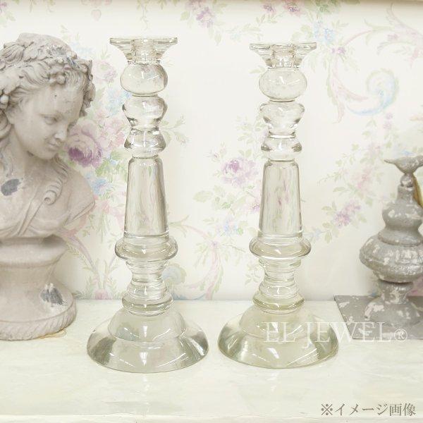 【35%OFF】【chehoma】ベルギー製 ガラス製キャンドルホルダー (H40.5cm)