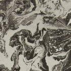 輸入壁紙<b>【フランス・Christian Lacroix】</b>Bain de Minuit ブラック×シルバー系 68.5cm巾×10.05m