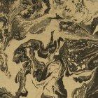 輸入壁紙<b>【フランス・Christian Lacroix】</b>Bain de Minuit ブラック×ゴールド系 68.5cm巾×10.05m