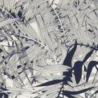 輸入壁紙<b>【フランス・Christian Lacroix】</b>ジャングル柄 Eden Roc ブルー系 68.5cm巾×10.05m巻