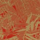 輸入壁紙<b>【フランス・Christian Lacroix】</b>ジャングル柄 Eden Roc レッド×ゴールド系 68.5cm巾×10.05m巻