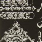輸入壁紙<b>【フランス・Christian Lacroix】</b>La Main au Collet ブラック系 52cm巾×10.05m巻