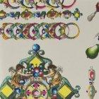 輸入壁紙<b>【フランス・Christian Lacroix】</b>La Main au Collet シルバー系 52cm巾×10.05m